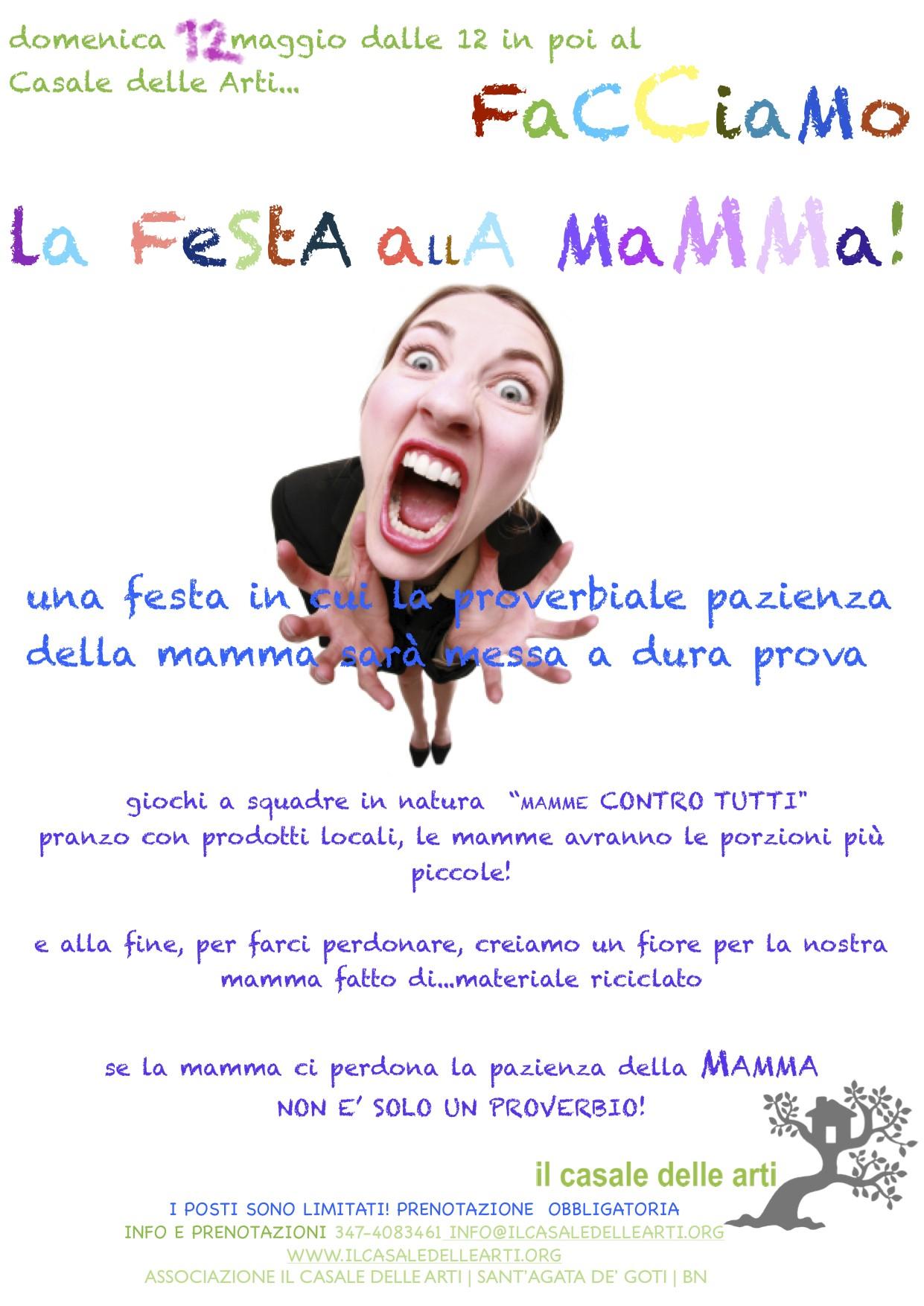 Domenica 12 Maggio – FACCIAMO LA FESTA ALLA MAMMA!